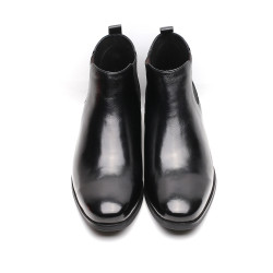 Black elastic-sides shoes