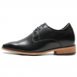 Elegant black elevator shoes 2,76 inches