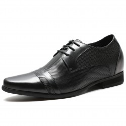 Perforated leather elevator shoes