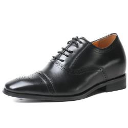 Elegant black height increasing shoes