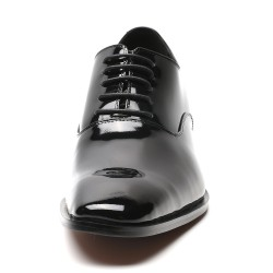 patent leather height increasing shoes