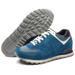 Blue suede sport shoes