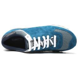 Light Blue suede elevator sport shoes CESARE