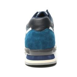 Blue suede elevator sport shoes