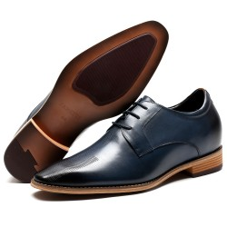Navy blue Elevator Shoes Gustavo +2,76 inches