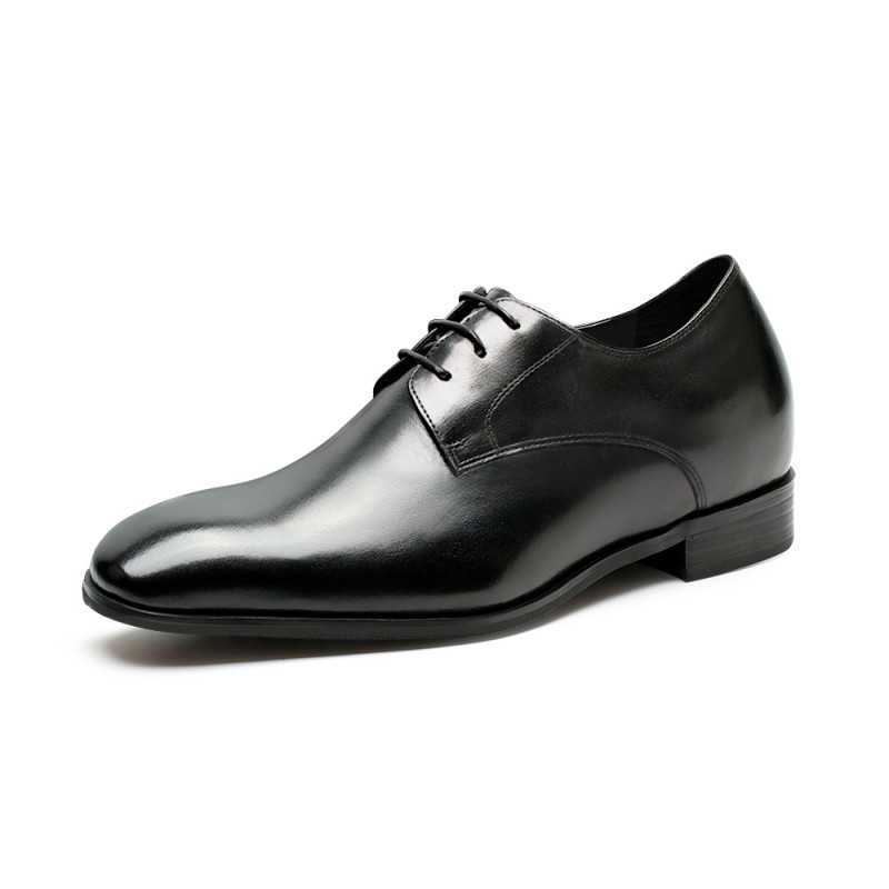 plain black elevator shoes