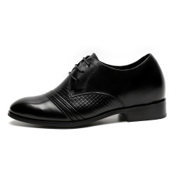 Elegant all-black elevator shoes Ivo